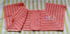crochelinhasagulhas: Vestido rosa em crochê para menina