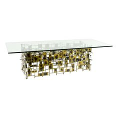 Silas Seandel Metal & Glass Coffee Table