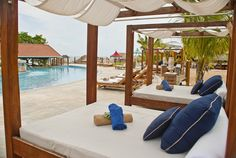 Comfortable cabanas by the pool just for you Sandals Grand Riviera Ochos Rios, Jamaica | www.thetravelchick.ca