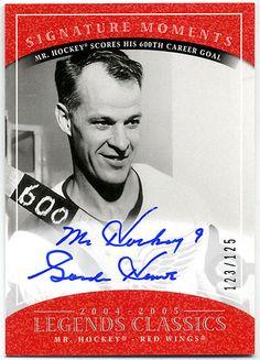 Autograph Hockey Cards Hockey Rules, Mookie Wilson, Hockey Pictures, Sandy Koufax, Red Wings Hockey, Joe Namath, Detroit Sports, Cards
