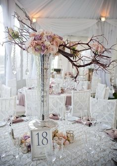 Unique Branch Wedding Centerpiece