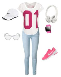 """""""Untitled #46"""" by little-girl24 ❤ liked on Polyvore featuring Frame Denim and NIKE"""