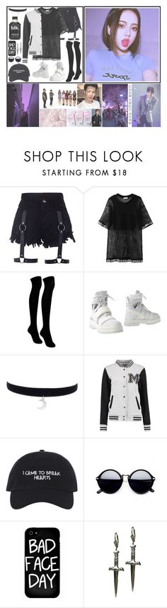 """""""   Yujin    Weekly Idol Outfit    { insert EXO lyrics }"""" by pastelcrimes ❤ liked on Polyvore featuring Chicnova Fashion, TALLY WEiJL, Local Heroes and Tina Tang"""