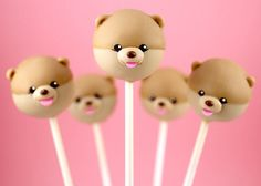 Boo the Dog Cake Pops by Bakerella, via Flickr
