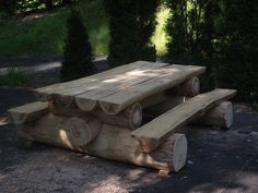log picnic table - Google Search