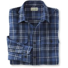 L.L.Bean Freeport Flannel Shirt, Slightly Fitted (660 MXN) ❤ liked on Polyvore featuring men's fashion, men's clothing, men's shirts, men's casual shirts, men, tops, mens flannel shirts, mens long sleeve plaid shirts, mens casual button down shirts and mens tartan shirt
