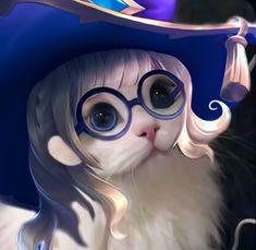 Lunar Magic, Find Icons, Cat Icon, Mobile Legend Wallpaper, Cartoon Memes, Mobile Legends, Cute Cats, Cute Girls, Chibi