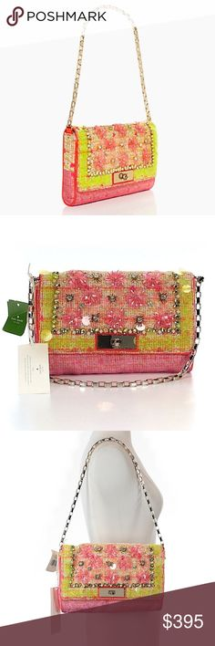 """⚡️FLASH SALE⚡️RARE Kate Spade Garden Groves Bag ⚡️FLASH SALE! 24 HOURS ONLY!!! ⚡️This GORGEOUS Kate Spade Garden Groves Felisha Shoulder bag is sold out EVERYWHERE! Measures 6.3""""H X 10.4""""W X 1.4"""" D. Detailing is constructed with 14-karat gold plated hardware. Features an interior zip and slide pocket. This bag is absolutely amazing and unique! Get it now! kate spade Bags Shoulder Bags"""