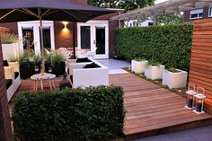 Landscaping ideas for backyard modern patio design ideas Modern Patio Design, Contemporary Garden Design, Small Garden Design, Backyard Patio, Backyard Landscaping, Landscaping Ideas, Backyard Ideas, Back Gardens, Balcony Garden