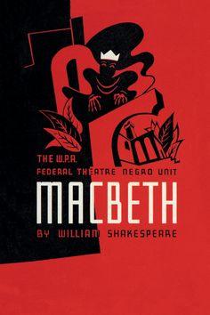 Macbeth: WPA Federal Theater Negro Unit, Illustrator: Anthony Velonis