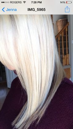 Loving my clients new icy blonde! Platinum blondes long layers