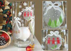 Vidéos de Loisirs créatifs - Femme2decoTV Grands Vases, Voici, Snow Globes, Dyi, Advent Calendar, Holiday Decor, Home Decor, Jar Candle, Stencils