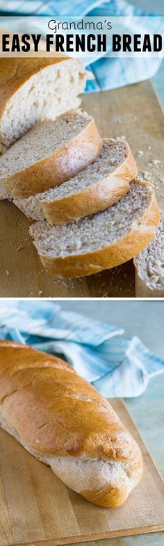 French bread doesn't have to be difficult - Grandma's Easy French Bread Recipe is soft and delicious and you'll never want to buy it from the grocery store again!: