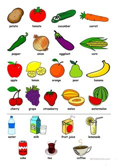 Food drinks worksheet free esl printable worksheets made by teachers food and drink comparatives discussion and presentation esl lesson plans usingenglish com Learning English For Kids, Teaching English Grammar, English Worksheets For Kids, English Lessons For Kids, Kids English, French Language Learning, Preschool Worksheets, English Vocabulary, Printable Worksheets