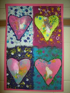 WHAT'S HAPPENING IN THE ART ROOM??: 1st Grade Jim Dine Hearts