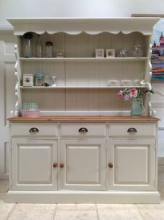 Great Hand Painted Dresser Solid Pine Welsh Sideboard Farmhouse Style Kitchen  Unit | EBay