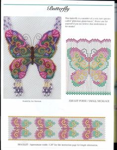 Beaded embroidery butterfly this looks like Suzanne Cooper's work Bead Loom Patterns, Peyote Patterns, Beading Patterns, Embroidery Patterns, Cross Stitch Patterns, Bracelet Patterns, Butterfly Cross Stitch, Butterfly Pattern, Big Butterfly