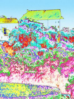 """'Stoffdesign """"Dorflandschaft 150""""' von Rudolf Büttner bei artflakes.com als Poster oder Kunstdruck $18.71"""