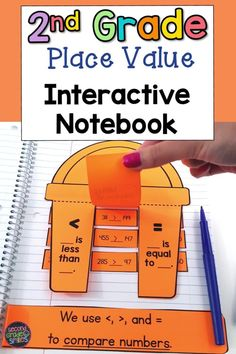 Teaching place value in second grade? Try this interactive math notebook! Great for your math centers and covers all your second grade place value standards!