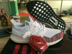 adidas Ultra Boost PrimeKnit Multi Color Rainbow White Black UK Trainers 2017/Running Shoes 2017 Adidas Boost Running Shoes, Mode Adidas, New Basketball Shoes, Popular Shoes, Shoes 2017, Trainers, Adidas Sneakers, Rainbow, Cheap Nike