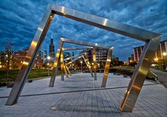 Misting Sculpture in Mary Bartelme Park, West Loop (Chicago Pin of the Day, 115 S Sangamon St, Chicago, IL 60607 Visit Chicago, Chicago Travel, Chicago Trip, Chicago Lake, Places To Travel, Places To See, West Loop Chicago, Chicago Neighborhoods, Chicago Restaurants