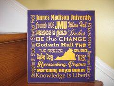 James Madison University sign JMU Dukes sign Dukes by lawler01, $35.00