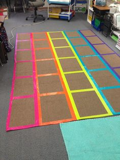 "Smart! Do it yourself ""carpet"" squares."