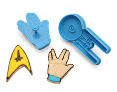 Star Trek Cookie Cutters. @Stephanie Critchell Do you think your mom would like something like this?
