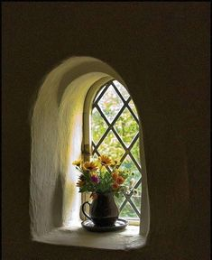 Cob window...very similar to what you would find in an Irish cottage