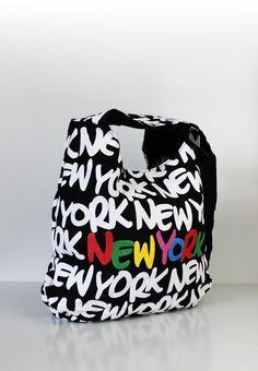 """Große Schultertasche New York """"neon style multi"""""""