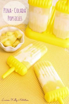 Pina Colada Popsicles | Lauren Kelly Nutrition, 3 ingredients! #cleaneating #healthy #vegan