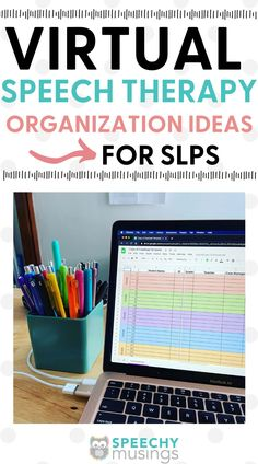 Feeling overwhelmed when trying to organize of all of your documents as an SLP during teletherapy or virtual learning? It's easy to get stressed when trying to juggle in person therapy sessions and virtual sessions, throw in document organization and it gets overwhelming. These online speech therapy organization ideas and tips are great for speech therapists during virtual learning or teletherapy session.