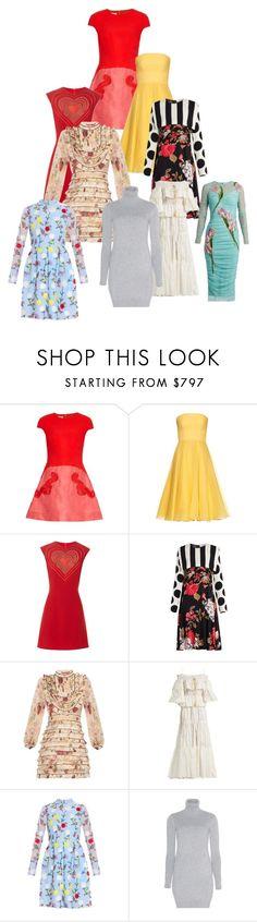 """Dresses that is yours"" by gadinarmada-1 ❤ liked on Polyvore featuring Antonio Berardi, Alexander McQueen, Christopher Kane, MSGM, Zimmermann, Roberto Cavalli, Erdem, Loro Piana and Dolce&Gabbana"