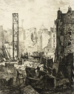 Percement du Boulevard St.-Germain   Maxime Lalanne France, 1863