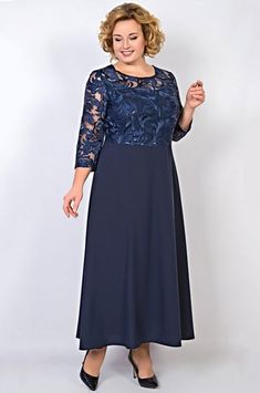 8009f933158 Нарядное платье отрезное по линии талии с удлиненной расклешенной юбкой из  однотонного легкого полотна TricoTex Style