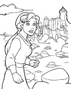 The Magic Sword: Quest for Camelot Coloring pages for kids. Printable. Online Coloring. 3