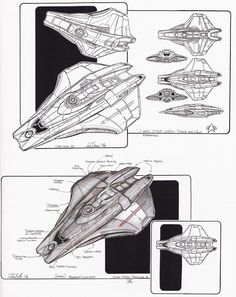 Scout ship design by John Eaves