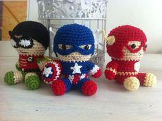 Super heroes amigurumi by @ikluk