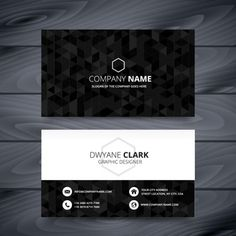 Black polygonal business card