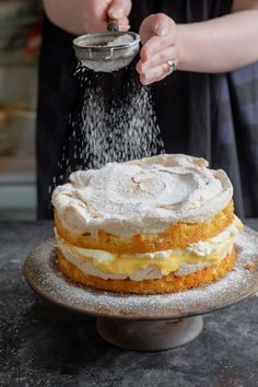 Recipe from the Flour and Stone cookbook by Nadine Ingram Baking, styling and video by Charlotte Ree Lemon Recipes, Baking Recipes, Cake Recipes, Dessert Recipes, All You Need Is, Lemon Dream Cake, Dream Recipe, Ricotta Cake, Lemon Meringue Cake