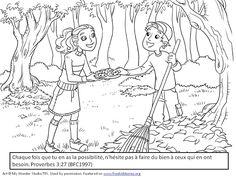 Versets bibliques coloriages enfants Générosité 2