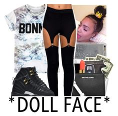 """""""DOLL FACE"""" by slayed-fashion ❤ liked on Polyvore featuring ElevenParis, Agent 18 and NIKE"""