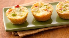 Mini Quiches - I used 4 eggs instead of 1 and a regular muffin tin