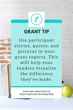 Show your funders how much of a difference they've made by including participant stories, quotes, and pictures in your grant reports. Click through to read more helpful grant report writing tips. Grant Proposal Writing, Grant Writing, Writing A Book, Writing Tips, Nonprofit Fundraising, Fundraising Ideas, Report Writing, Business Letter, Self Development