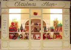Christmas Shop Window in Miniatures