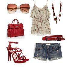 I love this, but I would prob do some cute wedges with some red in them instead:-)