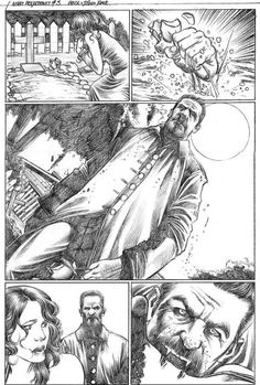 Pencil pages are just wicked. Check out this one for Night Projectionist by Diego Yapur