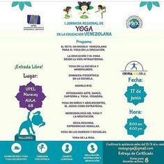 @clubdelarisamaracay y  @alemyr18 te invitan a pasar un día diferente y armónico. -  En el marco de la celebración del Día Mundial del Yoga El UPEL y  @eduyogavenezuela tienen el gusto de invitarlos este sábado 17/06 a la celebración el I Jornada Regional de Yoga en La Educación Venezolana donde yo estaré como ponente con la disertación: Mente Divertida Mente Creativa mostrando la influencia  de la yoga de la risa en el proceso de aprendizaje como una herramienta que permite estimular todas…