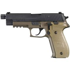 SIG Sauer P226 Combat TB Semi Auto Pistol 9mm Luger 5 Threaded Barrel 15 Rounds SIGLITE Night Sites Polymer Frame and Grips Two Tone FDE and Black Finish E26R-9-CBT-TB