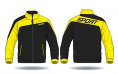 Vector illustration of sport jacket. Trendy Hoodies, Sports Hoodies, Sports Tracksuits, Fashion Design Template, Uniform Design, Tracksuit Set, Moda Fitness, Sport Outfits, Emo Outfits